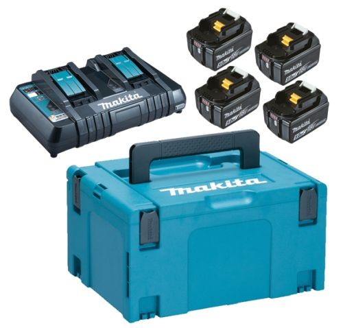 MAKITA aku POWER SET (4xBL1850B,1xDC18RD)  197626-8 Z1 21