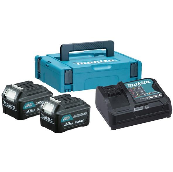 MAKITA akumulatorski set (2xBL1040B,1xDC10SA, kofer)  197636-5 Z2/2020