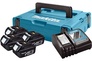 MAKITA aku POWER SET (4xBL1830,DC18RC)  197954-1