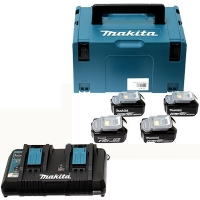 Makita aku POWER SET (4xBL1850B,1xDC18RD)  197626-8 Z1 2020