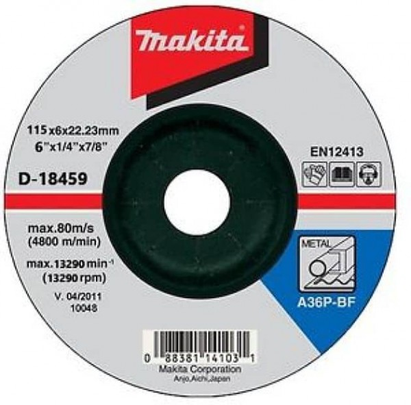 MAKITA brusna ploča 115x6x22 -A D-18459