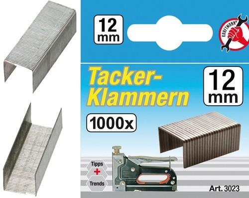 BGS ulošci za klamericu 1000kom /12mm Kraftman  3023