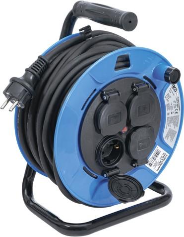 BGS  produžni kabel na kolutu, 25m,3x1,5mm2, 4 utičnice  3375