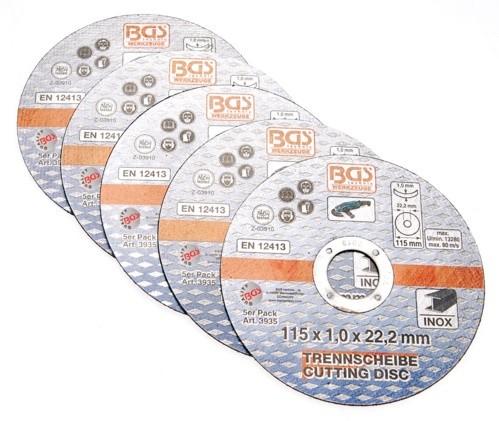 BGS rezna ploča za inox 115x1,0x22,2mm (5kom)  3935 promo
