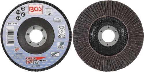 BGS lamelasti brusni disk 125mm za Inox K40 pro+ 3974