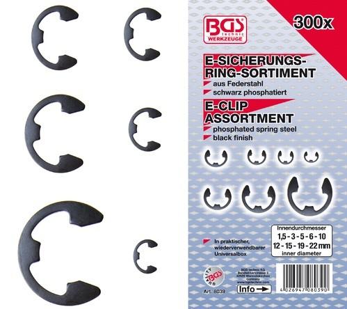 BGS  set ''E'' seger osigurača 1,5-22mm 300kom pro+   8039