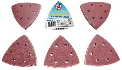 BGS set brusnih papira trokut 40-60-80-100-120 50-dij. Kraft  80815