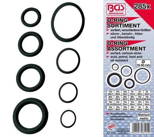 BGS set O-ring brtvi 18-50mm XXL 285dj. pro+  8105