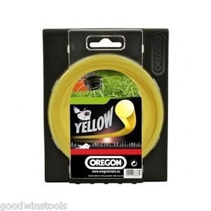 OREGON najlonska nit / flaks YELLOW ROUND LINE 2,4mm 15m  90153E