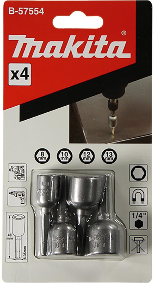 MAKITA nasadni ključevi 1/4''  set-8,10,12,13mm B-57554