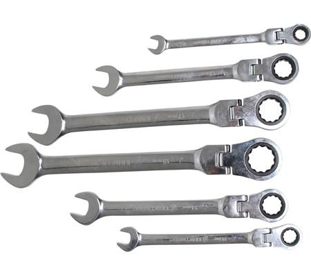 BGS set viljuškasto-okastih ključeva s račnom zglobni  8-19mm 6-dijelni Kraft 30004 promo