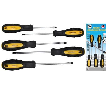 BGS set odvijača 5x75-6x100-6x125mm,PH1,PH2 5-dij. Kraft 35835 promo