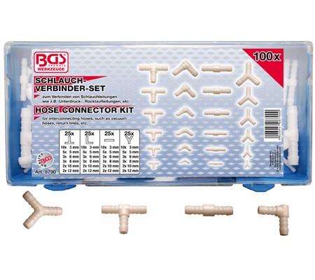 BGS Set priključaka za gumena i pvc crijeva pro+ 8790