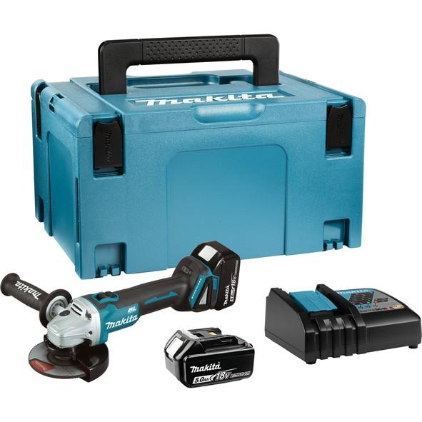 MAKITA akumulatorska kutna brusilica DGA504RTJ
