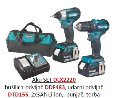 Makita akumulatorski set  DLX2220   ljeto 2019