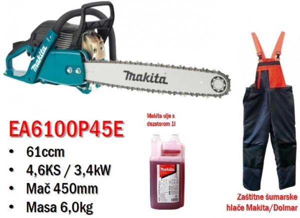 MAKITA motorna lančana pila (+ulje+hlače) EA6100P45E  MAG 2/2020