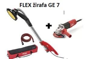 FLEX GE 7 brusilica s okruglom glavom za knauf+crijevo+torba+ kutna brusilica L810 GRATIS