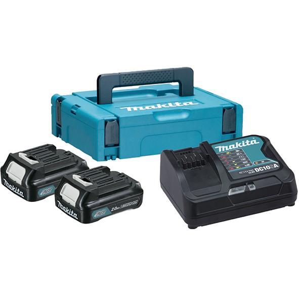 MAKITA LXT power set za napajanje (2xBL1020B,DC10SA,Makpac1 kofer) 197657-7 Z2/2020