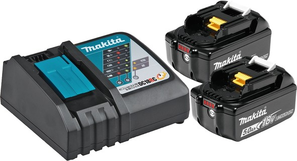 MAKITA aku POWER SET  (2xBL1850B,1xDC18RC)  197570-9 Z1 21