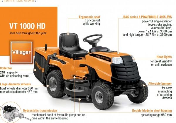 VILLAGER traktorska kosilica VT1000HD 12,1kW 98cm 500cm3 040942