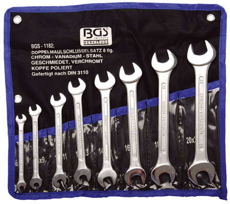 BGS set ključeva viljuškastih 6x7- 20x22mm 8-dijelni pro+  1182 promo