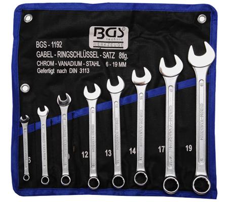 BGS set viljuškasto-okastih ključeva 6-19mm 8-dijelni pro+  1192 promo