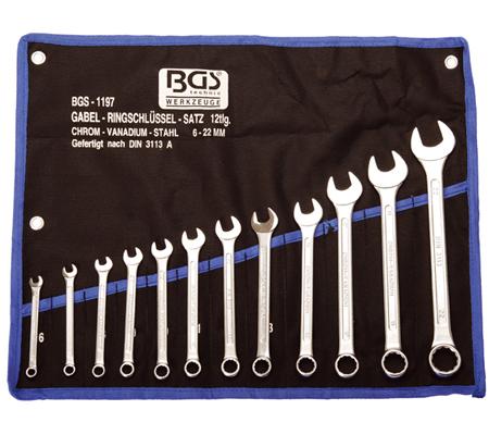 BGS set viljuškasto-okastih ključeva 6-22mm 12-dijelni pro+  1197  promo