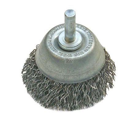 BGS četka žičana za bušilicu lončasta 75mm valovita žica  3076