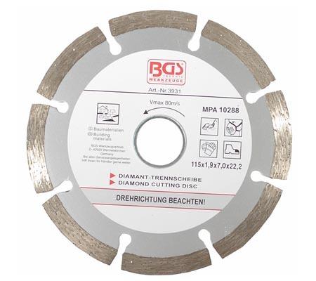 BGS dijamantna ploča 115mm segmentirana 3931