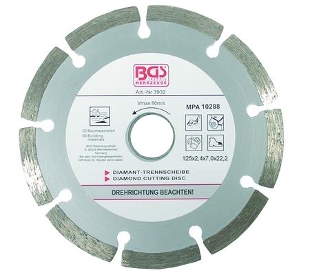 BGS dijamantna ploča 125mm segmentirana pro+  3932