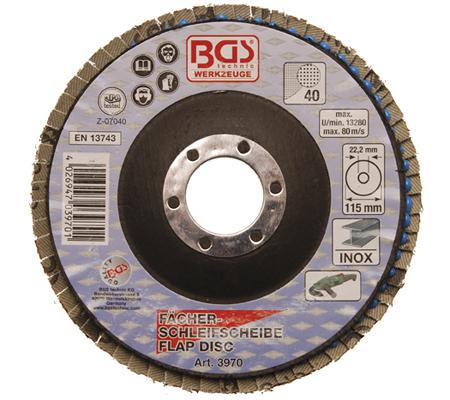 BGS lamelasti brusni disk 115mm za inox k40  3970