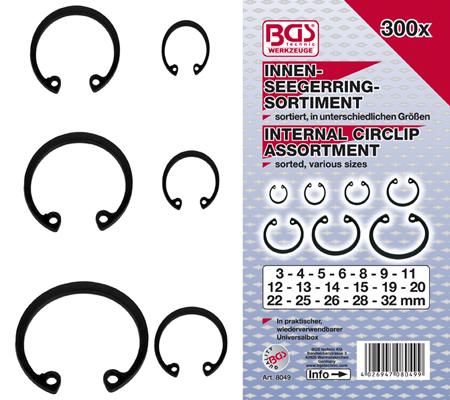 BGS set unutarnjih seger osiguraća 3-32mm 300kom pro+   8049