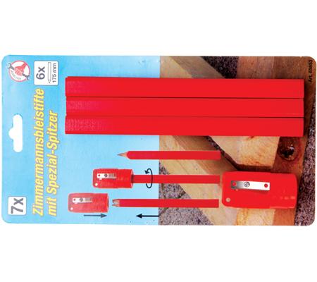 BGS 6 stolarskih olovaka+šiljilo 7-dijelni set  85853 promo