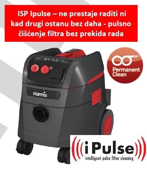 STARMIX profesionalni usisavač sa elektromagnetskim pulsnim čišćenjem filtera ISP iPulse L-1635 Basic