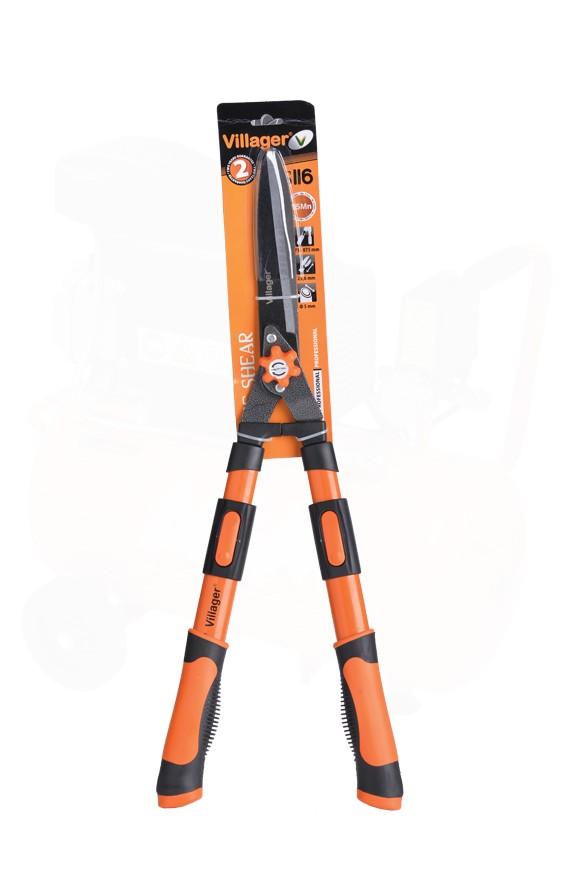 VILLAGER škare za živicu ravna oštrica-teleskopske HS116 029682