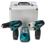 Makita LXT set (TD090+DF330,2 akum,punjač,kofer) LCT204